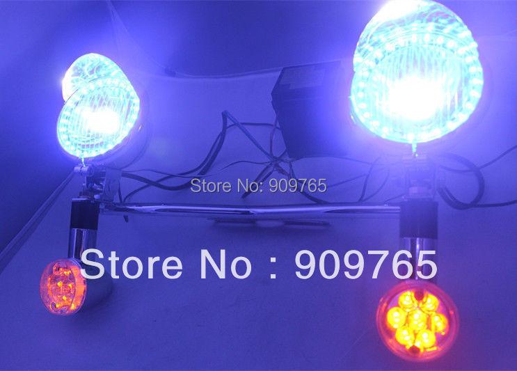 LED Turn Signal Driving ANGEL EYE Spot lights For Honda Yamaha Suzuki Kawasaki Harley Ducati Motorcycle Touring Chopper Custom легинсы merri merini 9 10 лет aubergine mm 19a