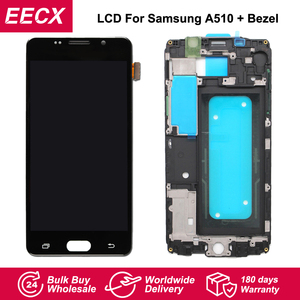 Image 1 - Pantalla LCD A510F para móvil, digitalizador de pantalla táctil con marco para Samsung Galaxy A510F, A5 Duos (2016), A510M