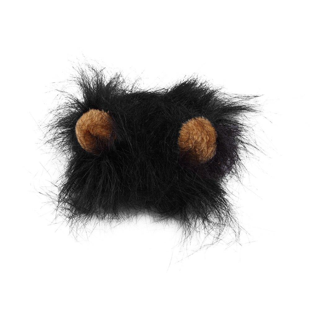 Pet Cat Dog Emulation Lion Hair Mane Ears Head Cap Autumn Winter Dress Up Costume Muffler Scarf #3