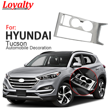 Loyalty for Hyundai Tucson 2015 2016 2017 LHD Gear Box Shift Electronic Handbrake Panel Cover Trim Car Styling Auto Accessories