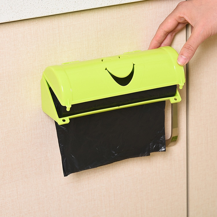 Storage-Container Bathroom-Organizer Trash-Bags Wall-Mounted Lastic Kitchen Simle-Shape