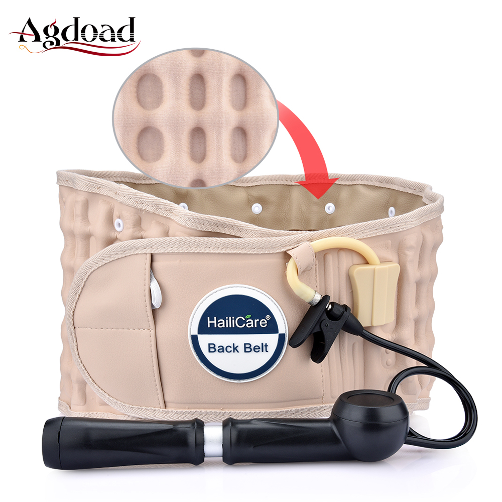 AGDOAD Decompression Back Belt Back Brace Back Pain Lower Lumbar Support One Size for 29 inches