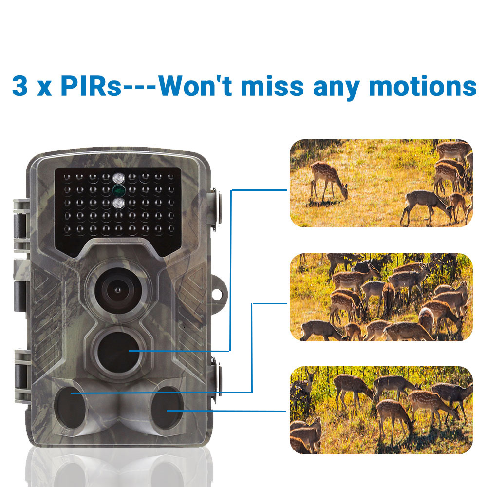 Image 2 - Goujxcy Trail Camera HC800A IP65 Waterproof forest Hunting Camera Night Vision Infrared LED Wildlife Camera Photo Traps scouts-in Hunting Cameras from Sports & Entertainment
