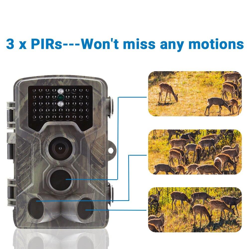 Image 2 - Goujxcy Trail camera HC800A IP65 водонепроницаемая лесная охотничья камера ночного видения инфракрасный светодиодный диких животных ловушки для фотоаппаратов Скауты-in Камеры для охоты from Спорт и развлечения