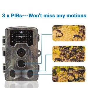 Image 2 - كاميرا احترافية من gojxcy طراز HC800A Trail كاميرا 1080P للرؤية الليلية بالأشعة تحت الحمراء LED كاميرا صيد مقاومة للمياه كاميرا الحياة البرية كاميرا تصوير الفخاخ الكشافة