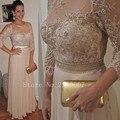 На Заказ Три Четверти Плюс Размер мать Невесты Платья Шифон Аппликации Из Бисера Линия Вечернее Платье