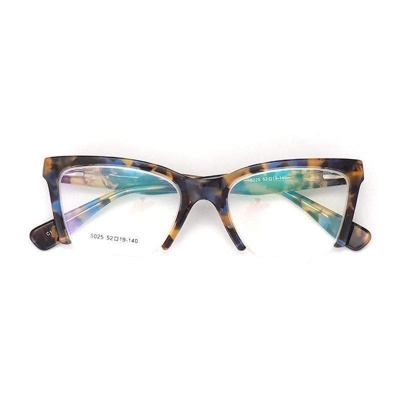 UnabhäNgig Top Qualität Hand Gemacht Acetat Brille Rahmen Frauen Cat Eye Trendy Schmetterling Brillen Rahmen Weibliche Optische Gläser Rahmen Sq5025