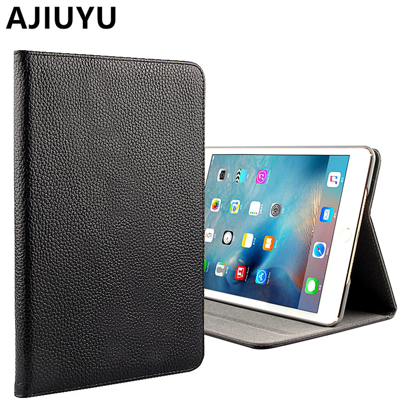 AJIUYU For Apple iPad mini 4 Case Genuine Leather Cowhide Smart Cover Protective Protector For iPad mini4 Tablet 7.9 inch Cases in stock english version 4mp ip camera ds 2cd1341 i replace ds 2cd2345 i network cctv turret camera full hd1080p ip67 h 264