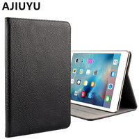 AJIUYU For Apple IPad Mini 4 Case Genuine Leather Cowhide Smart Cover Protective Protector For IPad