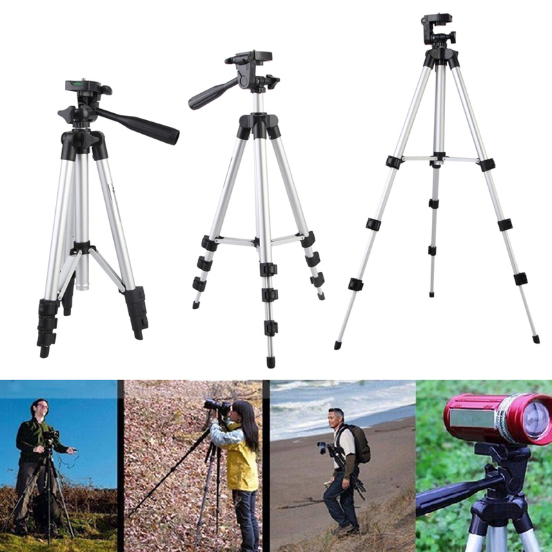 Flexible Professional Tripod for Camera Lightweight Aluminum Projector Tripods With Carry Bag for Video SLR DSLR Digital Camera new professional aluminum alloy yunteng vct 668 tripod for slr dslr camera maximum load 3kg with carry bag