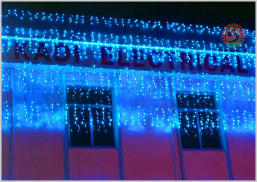 Hot Sale Curtain String Lights Garden Lamps New Year Christmas Icicle LED  Lights Xmas Wedding Party Decorations 1000LEDs 10M*3M In LED String From  Lights ...