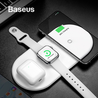 Baseus Wireless Charger For iPhone X XS MAX XR 8 Fast Wireless Full load 3 in 1 Charging Pad for Airpods 2019 Apple Watch 4 3 2