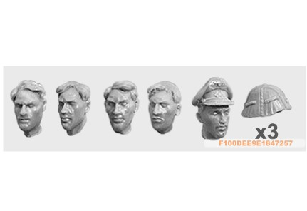 1:35   WWII British Troops Head (5 Figures)07