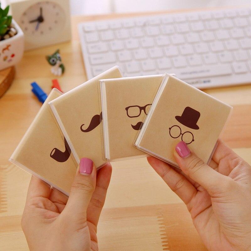Mustache Series Korean Cartoon Creative Gum Cover Stationery Notepad Office Supplies School Cute Filofax Notebook Diary Students