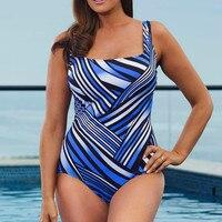 Sexy Large Size Woman Swimsuit One Piece 2017 Female Swimwear Plus Size Departure Beach Monokini BATH