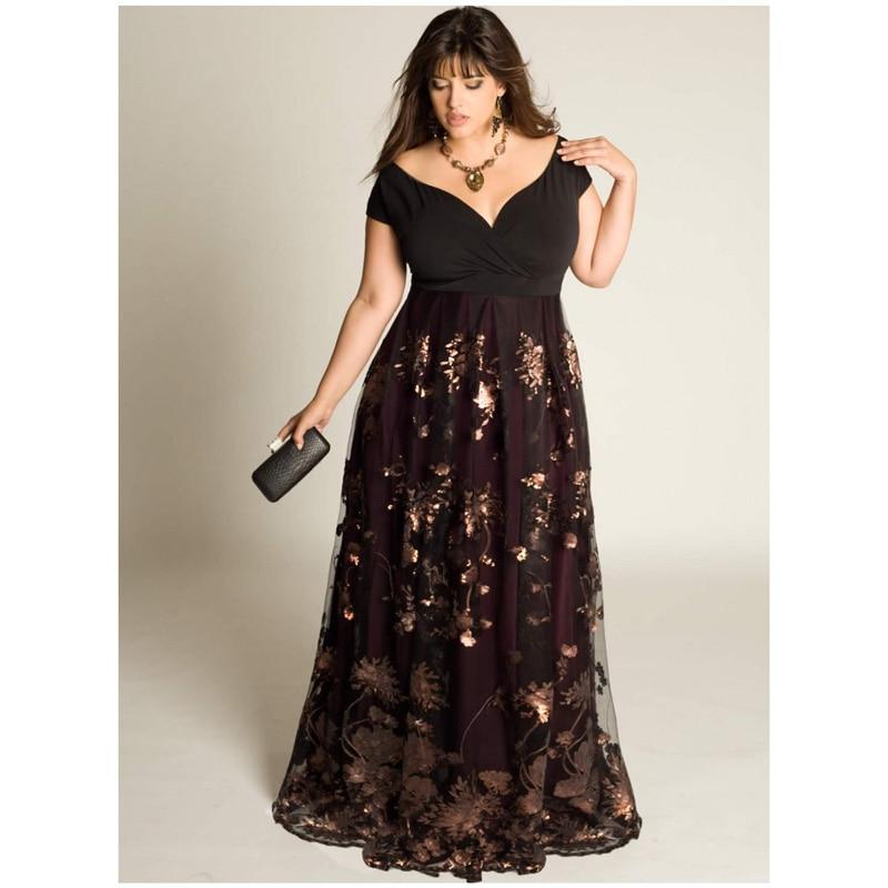 Plus Size Off the Shoulder Long Dresses