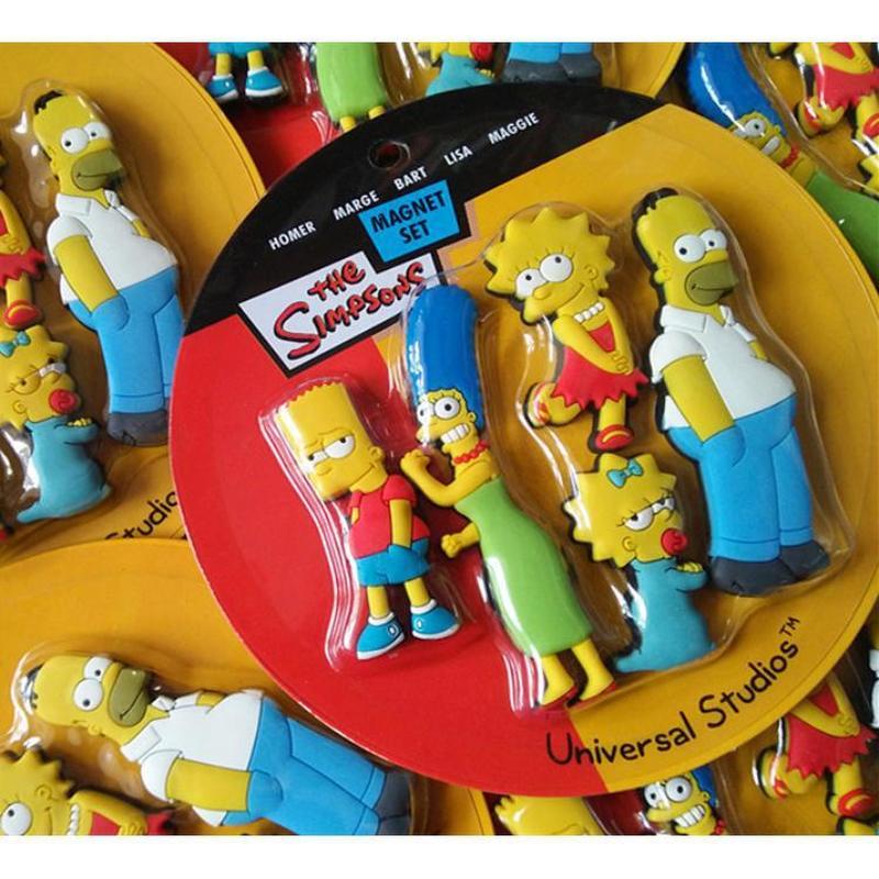 Image 4 - Homer Simpson cartoon creative fridge magnet early education decorative refrigerator Sticker home decor-in Fridge Magnets from Home & Garden