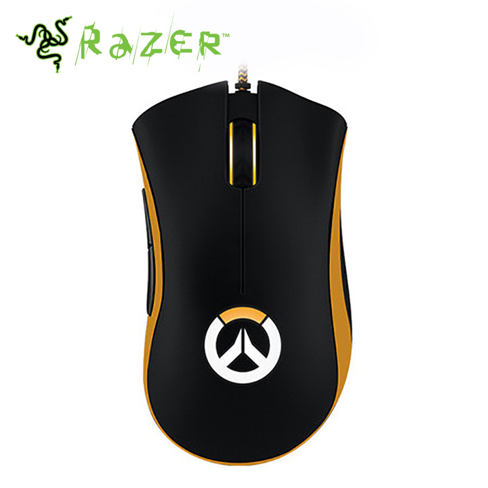 Razer DeathAdder Chroma Overwatch Edition Ergonomic Gaming Mouse Chroma Enabled RGB For Esports 10000DPI for computer/Laptop razer deathadder elite overwatch edition 16000dpi ergonomic wired gaming mouse chroma enabled rgb esports gaming mouse