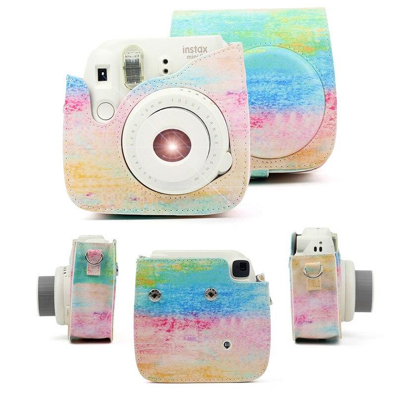 Andoer Funda de PU protectora para m/áquina fotogr/áfica con correa para Fujifilm Instax Mini 8+//8S//8//9