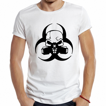 Punk Skull Mask Printed T Shirt 1