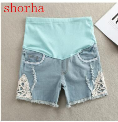 2018 new Maternity Clothing Summer Maternity Pants Fashion Maternity Shorts Belly Pants Basic Maternity Jeans Pregnant Women