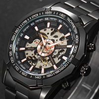 Top Brand Luxury Forsining Watch Men Fashion Automatic Mechanical Gold Skeleton Watch 2017 Mens Watch Relogio