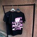 High quality summer male hip hop streetwear cotton T-Shirt skeleton printing men short sleeve anti social social club T shirt
