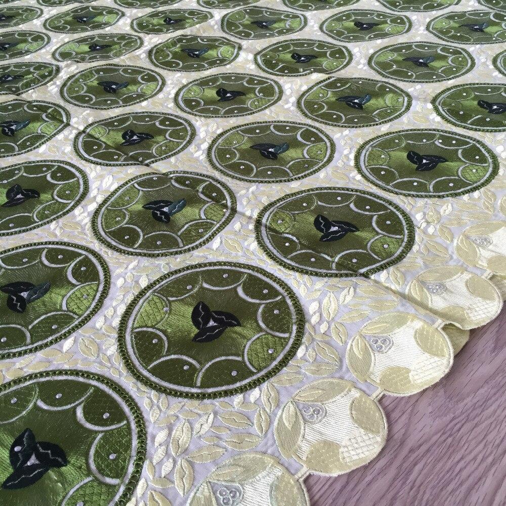Ev ve Bahçe'ten Dantel'de Düğün Parti 100% Pamuk 052 Için 2019 Nijeryalı Dantel Kumaşlar Yeşil afrika İsviçre kumaşı Dantel Yüksek Kalite İsviçre'da  Grup 3