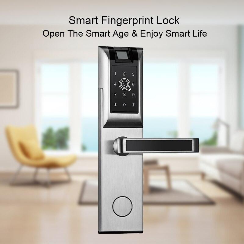 Eseye inteligente fechadura da porta de impressão digital keyless app bluetooth senha para casa do hotel fechadura da porta eletrônica