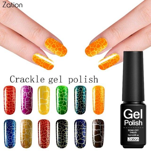 Zation UV Gel Cracking Nail Varnish Top Base Coat Gel Polish Nail ...