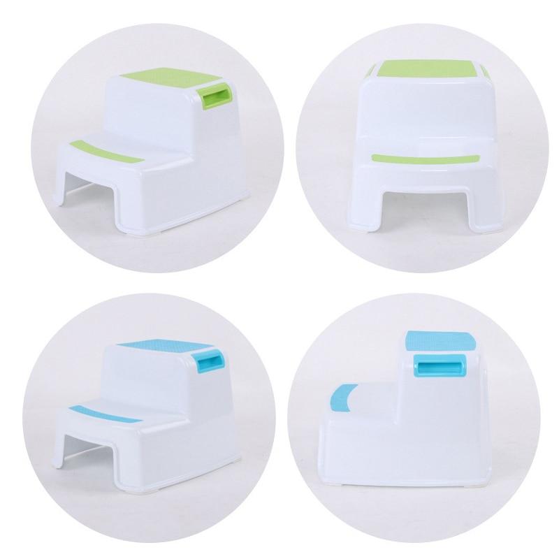2 Step Stool Toddler Kids Stool Toilet Potty Training Slip Resistant For Bathroom Kitchen HUG-Deals