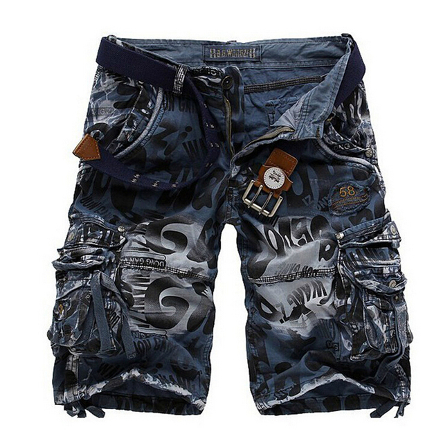 Military Army Cargo Shorts Men's Cotton Shorts Homme Fashion Casual Trousers Plus Size 38 Brand clothing