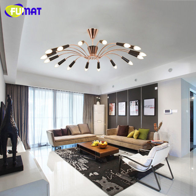FUMAF Nordic Luxury Living Room Ceiling Lights Modern Simple Indoor  Lighting Round LED Bedroom Ceiling Lamps Gold