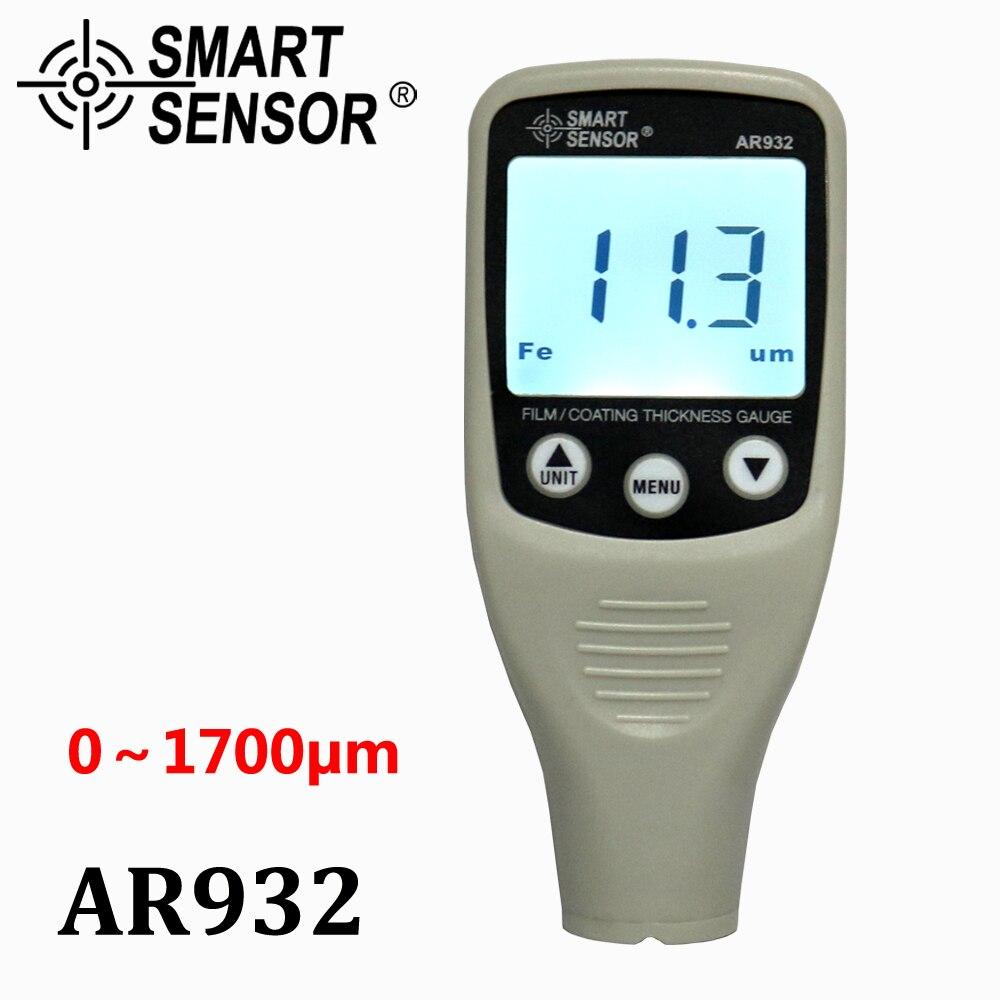 Medidor automotivo do verificador da pintura do carro (0 171700um) medidor de espessura do revestimento da pintura de digitas com ponta de prova, detector de carro