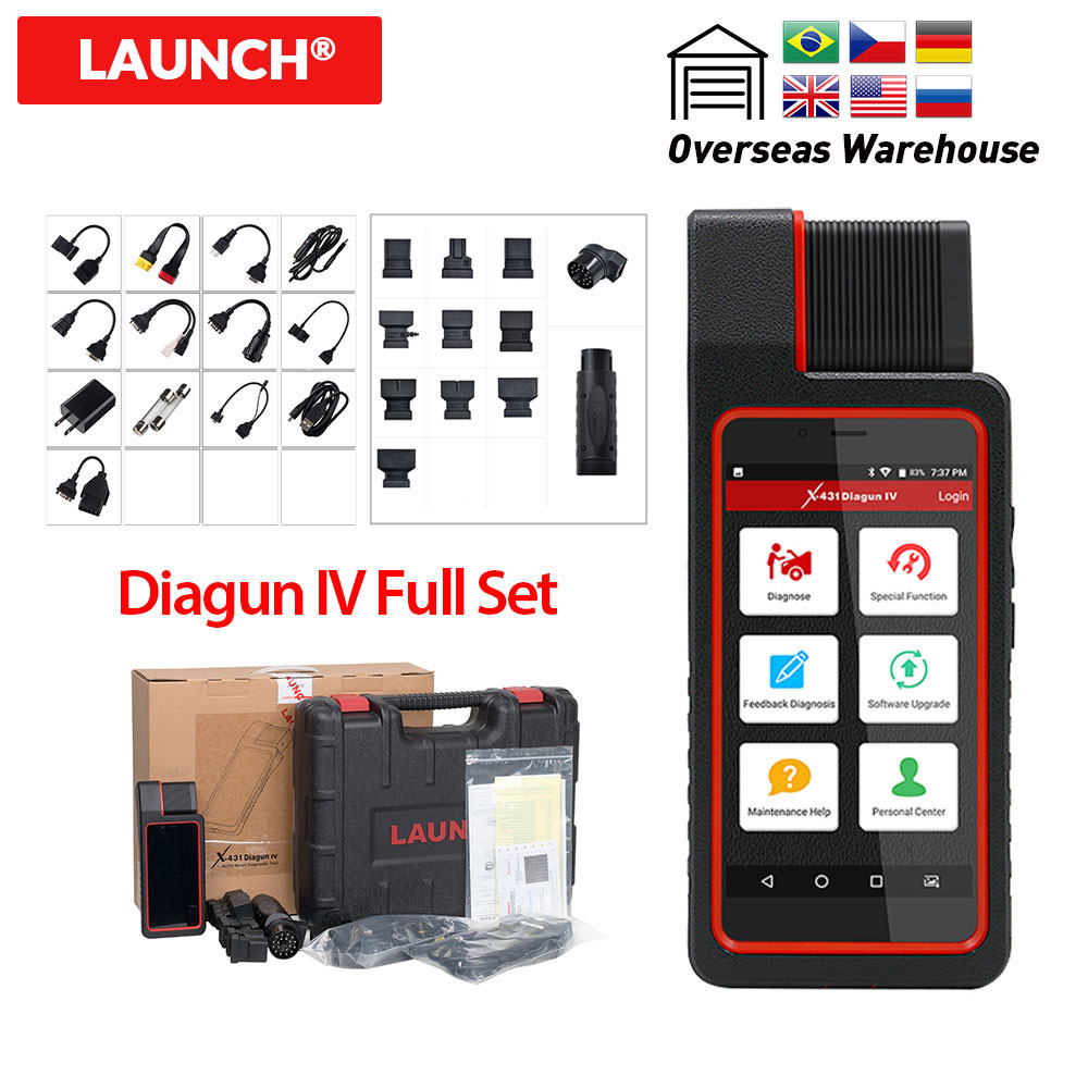 Launch X431 Diagun IV with full adapters 2 years Free Update Diagun IV full system auto