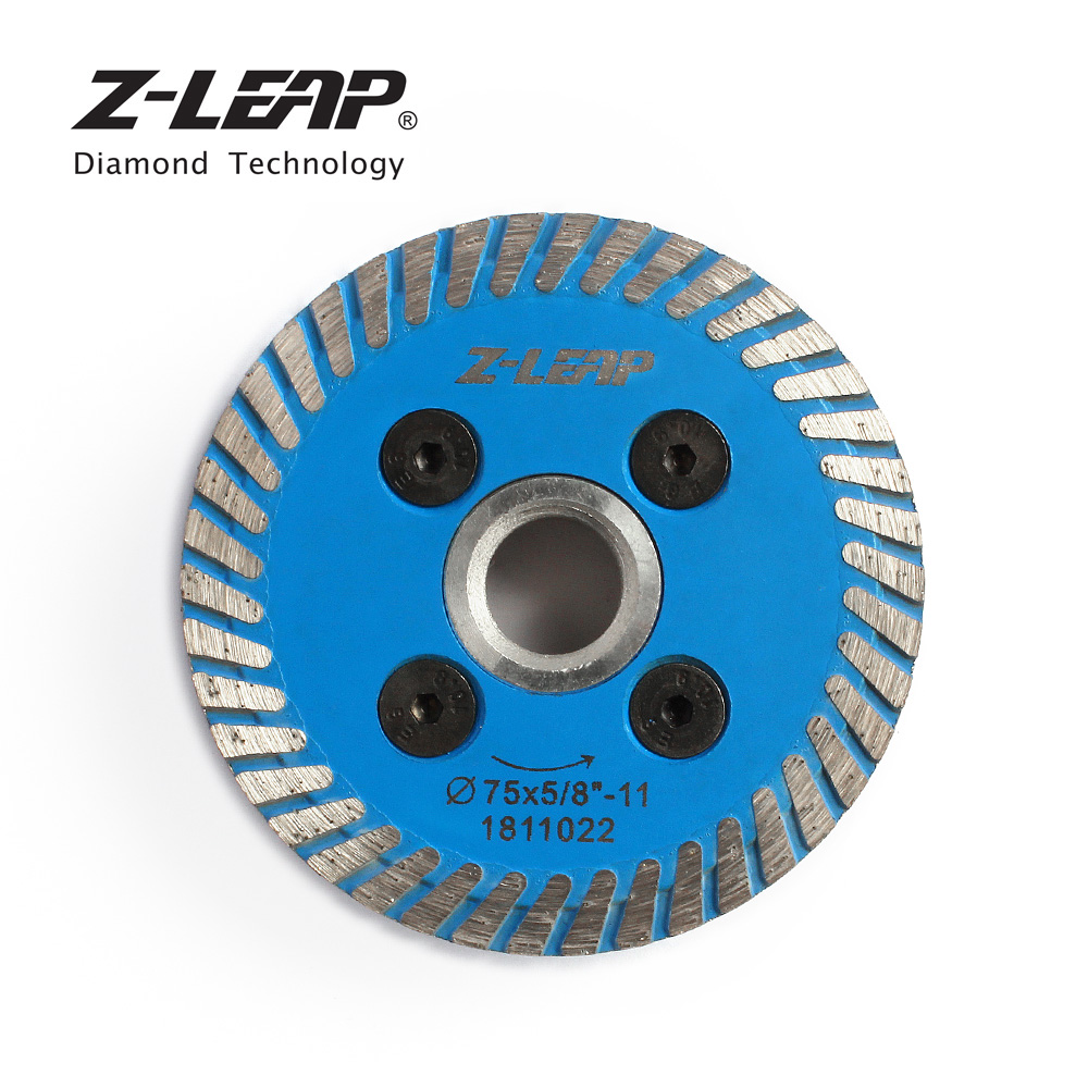 Image 4 - Z LEAP 75mm Diamond Mini Turbo Cutting Blade With Removable Flange M14 5/8 11 Diamond Carving Disc Saw Blade For Stone Granite-in Saw Blades from Tools