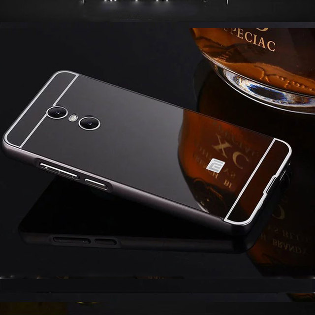 reputable site 9a84d 5622e For Xiaomi Redmi 5 Plus Case 3gb 32gb Aluminum Metal Bumper Mirror Plastic  Back Cover Cases For Xiaomi Redmi 5Plus 4gb 64gb 5.99-in Phone Bumper from  ...