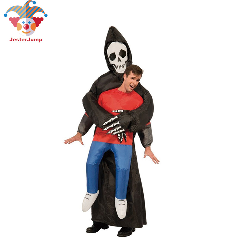 Free Shipping ghost Inflatable Costume Adult Fancy Dress Suit Party Halloween