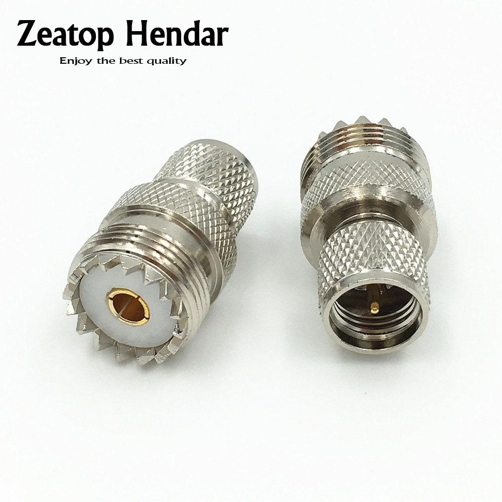 USA Seller Mini UHF Male to UHF Female Connector 2 PCS