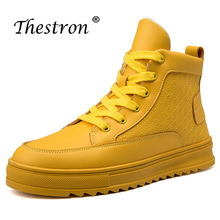 2018 Fashion Hip-hop Style Men Shoes High Quality Working Safety Boots Top Male Leather Brand Mens Knee