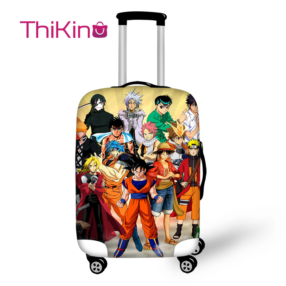 Thikin Dragon Ball Travel Luggage Cover for Teens Cartoon School Trunk Suitcase Protective Cover Travel Bag Protector Jacket in Travel Accessories from Luggage Bags