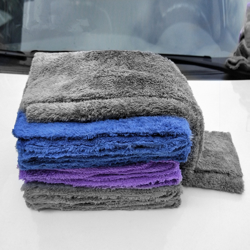 350GSM Premium Microfiber Car Detailing Super Absorbent Towel Ultra Soft Edgeless Car Washing Drying Towel 40X40CM