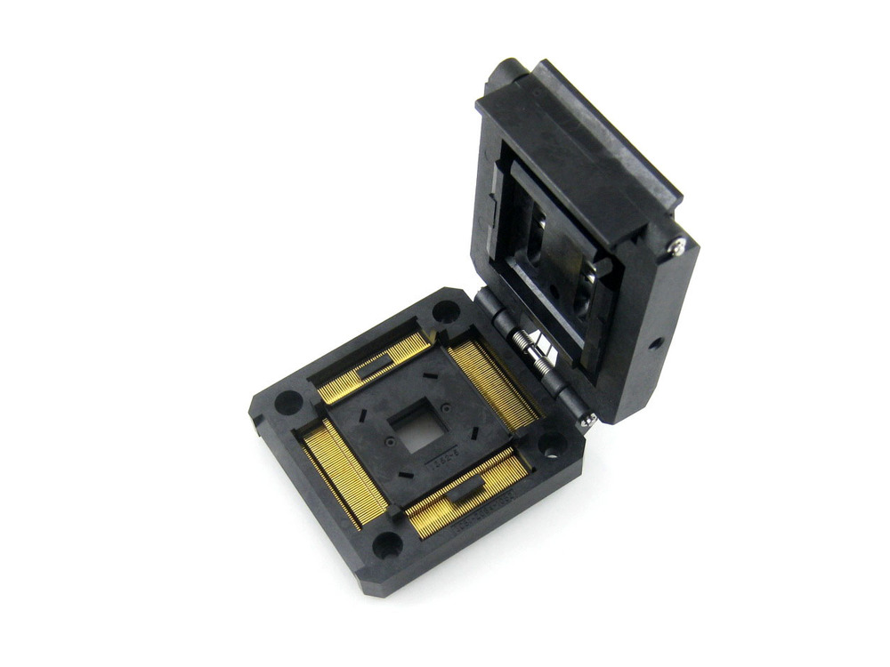 module QFP208 TQFP208 FQFP208 PQFP144 IC51-2084-1052-11 Yamaichi QFP IC sockets Adaptor Programming Adapter 0.5mm Pitch clamshel xc4013xla 07pq208c qfp208