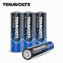 NANFU 4 Pcs/Lot TENAVOLTS AA Rechargeable Battery 750mAh 2775 mWh Lithium Li-ion Batteries High-Capacity for Mouse Toys Control