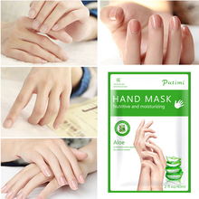 4Pcs=2Pack Aloe Hand Mask Moisturizing Whitening Mask Cream Soften Hand Skin Care Exfoliating Hands Peeling Mask Spa Gloves 4 colors gel spa silicone gloves soften whiten exfoliating moisturizing treatment hand mask care repair hand beauty tools new