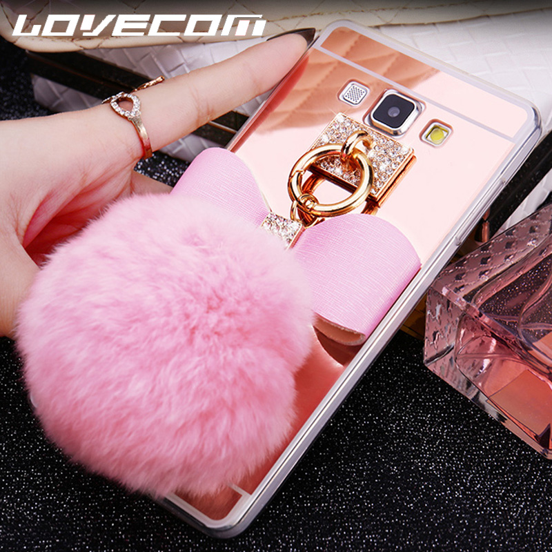 Cellphones & Telecommunications Rhinestone Cases Clever Luxury Mirror Fur Ball Case For Samsung Galaxy J1 J2 Prime J3 J5 J7 2016 2017 J120 J320 J510 J710 J330 J530 J730 Case Cover