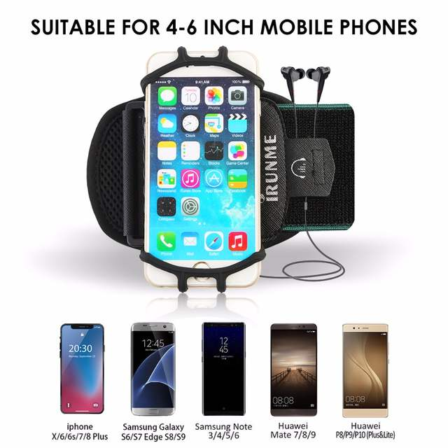 cheap for discount 5e210 7ad93 US $7.91 33% OFF Universal Waterproof Gym Running Sports Armband for iPhone  X 8 7 Case Cover Holder Arm Band Wrist Case Bag for 4 to 6 Inch Phone-in ...