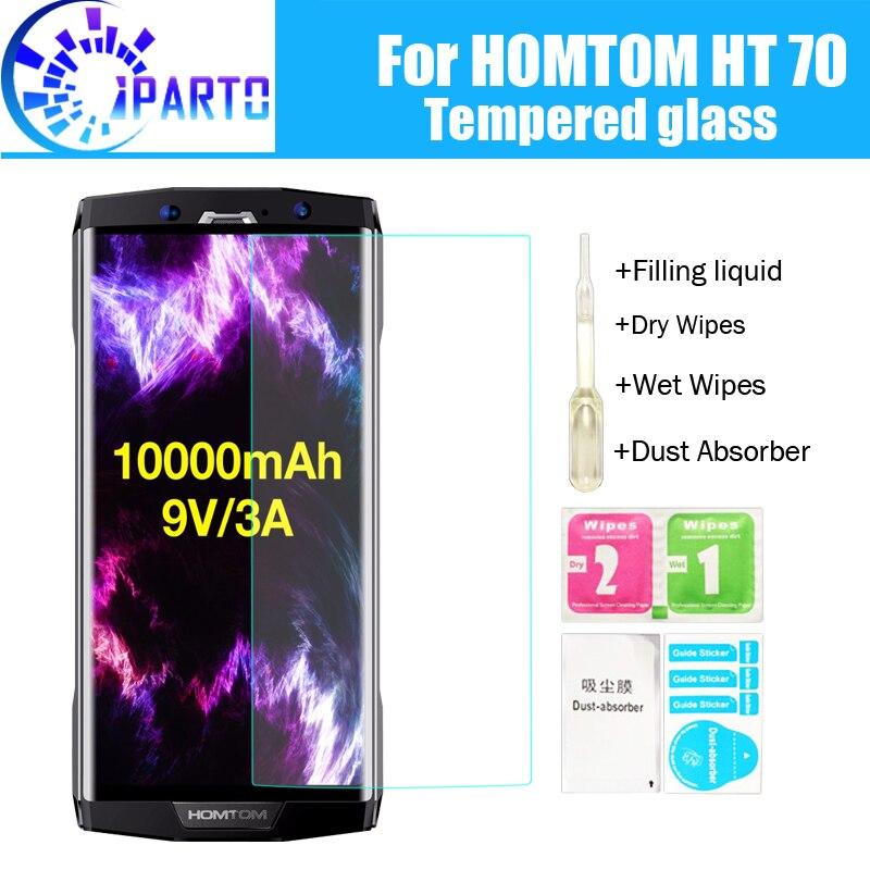 HOMTOM HT70 de cristal templado de 100% de buena calidad Premium 9 H Protector de pantalla de cine accesorios para HT70 (no 100% cubiertos)