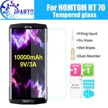 HOMTOM HT70 Gehärtetem Glas 100% Gute Qualität Premium 9 H Screen Protector Film Zubehör für HT70 (Nicht 100% abgedeckt)