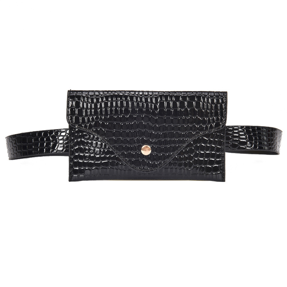 Waist Bag Women Waist Packs Bags Leather Belt Bag Small Fashion Stone Crocodile Waterproof heuptas wandelen groot pochete homem women rivets waist fanny pack belt bag women leather waist bag luxury heuptas wandelen groot handbags bags designer sac banane